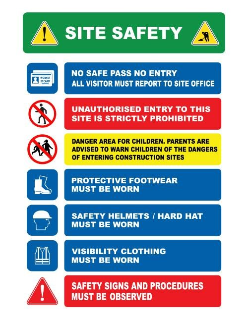 Scaffolding Safety Signs